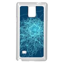 Shattered Glass Samsung Galaxy Note 4 Case (White)