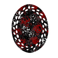 Abstraction Oval Filigree Ornament (Two Sides)