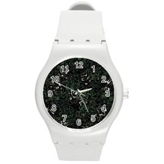 Abstraction Round Plastic Sport Watch (M)