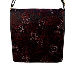 Abstraction Flap Messenger Bag (L)