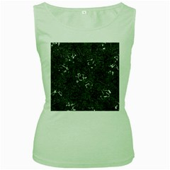 Abstraction Women s Green Tank Top