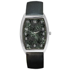 Abstraction Barrel Style Metal Watch