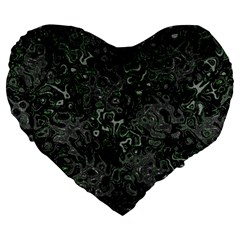 Abstraction Large 19  Premium Heart Shape Cushions