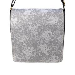Abstraction Flap Messenger Bag (L)