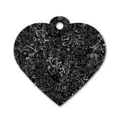 Abstraction Dog Tag Heart (One Side)