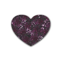 Abstraction Rubber Coaster (Heart)