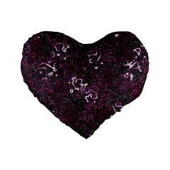 Abstraction Standard 16  Premium Flano Heart Shape Cushions