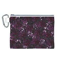 Abstraction Canvas Cosmetic Bag (L)