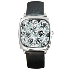 Abstraction Square Metal Watch