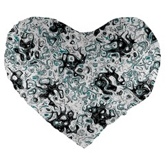 Abstraction Large 19  Premium Flano Heart Shape Cushions
