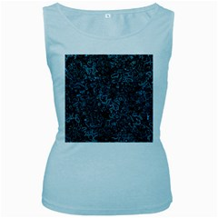Abstraction Women s Baby Blue Tank Top