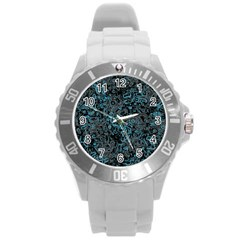Abstraction Round Plastic Sport Watch (L)