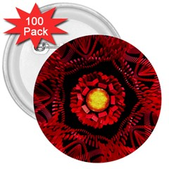 The Sun Is The Center 3  Buttons (100 pack)