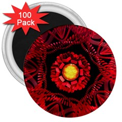 The Sun Is The Center 3  Magnets (100 pack)