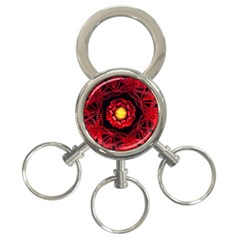 The Sun Is The Center 3-Ring Key Chains