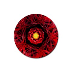 The Sun Is The Center Rubber Round Coaster (4 pack)