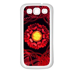 The Sun Is The Center Samsung Galaxy S3 Back Case (White)