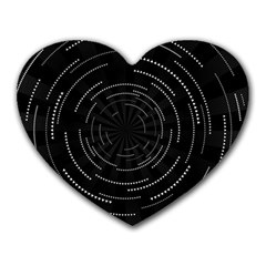 Abstract Black White Geometric Arcs Triangles Wicker Structural Texture Hole Circle Heart Mousepads