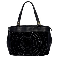 Abstract Black White Geometric Arcs Triangles Wicker Structural Texture Hole Circle Office Handbags