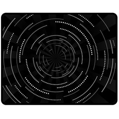 Abstract Black White Geometric Arcs Triangles Wicker Structural Texture Hole Circle Fleece Blanket (Medium)