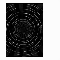 Abstract Black White Geometric Arcs Triangles Wicker Structural Texture Hole Circle Small Garden Flag (Two Sides)