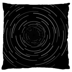 Abstract Black White Geometric Arcs Triangles Wicker Structural Texture Hole Circle Large Cushion Case (Two Sides)