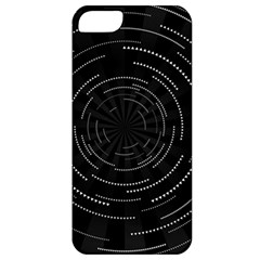 Abstract Black White Geometric Arcs Triangles Wicker Structural Texture Hole Circle Apple iPhone 5 Classic Hardshell Case