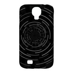Abstract Black White Geometric Arcs Triangles Wicker Structural Texture Hole Circle Samsung Galaxy S4 Classic Hardshell Case (PC+Silicone)