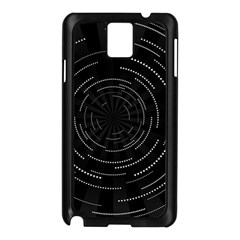 Abstract Black White Geometric Arcs Triangles Wicker Structural Texture Hole Circle Samsung Galaxy Note 3 N9005 Case (black)