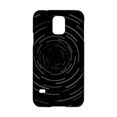Abstract Black White Geometric Arcs Triangles Wicker Structural Texture Hole Circle Samsung Galaxy S5 Hardshell Case
