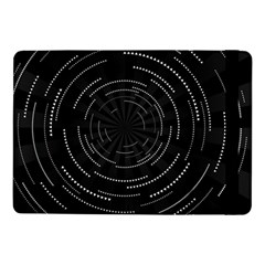 Abstract Black White Geometric Arcs Triangles Wicker Structural Texture Hole Circle Samsung Galaxy Tab Pro 10.1  Flip Case