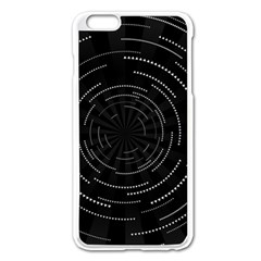 Abstract Black White Geometric Arcs Triangles Wicker Structural Texture Hole Circle Apple iPhone 6 Plus/6S Plus Enamel White Case
