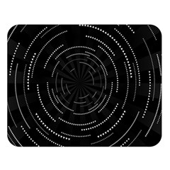 Abstract Black White Geometric Arcs Triangles Wicker Structural Texture Hole Circle Double Sided Flano Blanket (large)