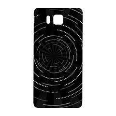 Abstract Black White Geometric Arcs Triangles Wicker Structural Texture Hole Circle Samsung Galaxy Alpha Hardshell Back Case