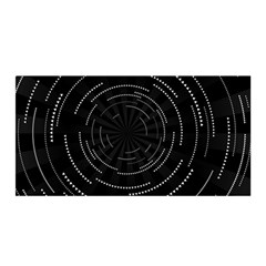 Abstract Black White Geometric Arcs Triangles Wicker Structural Texture Hole Circle Satin Wrap