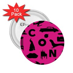 Car Plan Pinkcover Outside 2.25  Buttons (10 pack)