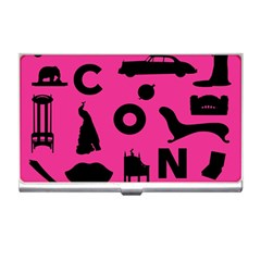 Car Plan Pinkcover Outside Business Card Holders
