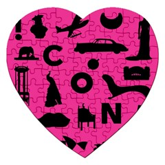 Car Plan Pinkcover Outside Jigsaw Puzzle (Heart)