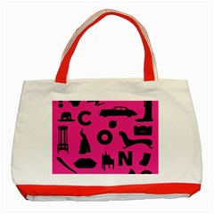Car Plan Pinkcover Outside Classic Tote Bag (Red)
