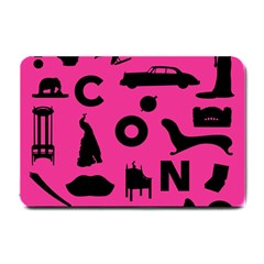Car Plan Pinkcover Outside Small Doormat