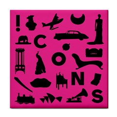Car Plan Pinkcover Outside Face Towel