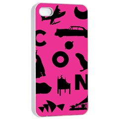 Car Plan Pinkcover Outside Apple iPhone 4/4s Seamless Case (White)