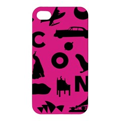 Car Plan Pinkcover Outside Apple iPhone 4/4S Premium Hardshell Case
