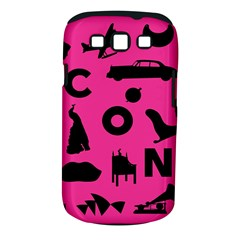 Car Plan Pinkcover Outside Samsung Galaxy S III Classic Hardshell Case (PC+Silicone)
