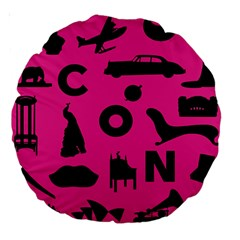 Car Plan Pinkcover Outside Large 18  Premium Round Cushions
