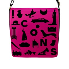 Car Plan Pinkcover Outside Flap Messenger Bag (L)