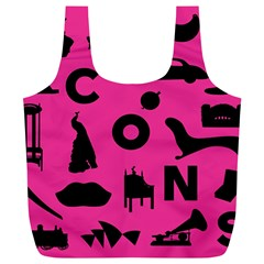 Car Plan Pinkcover Outside Full Print Recycle Bags (l)