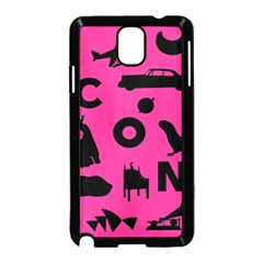 Car Plan Pinkcover Outside Samsung Galaxy Note 3 Neo Hardshell Case (black)