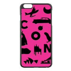 Car Plan Pinkcover Outside Apple iPhone 6 Plus/6S Plus Black Enamel Case