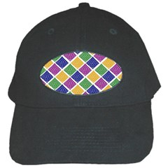 African Illutrations Plaid Color Rainbow Blue Green Yellow Purple White Line Chevron Wave Polkadot Black Cap